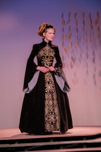 Sara Price as the Queen of Navarre.  Photo:  Bruce Peters